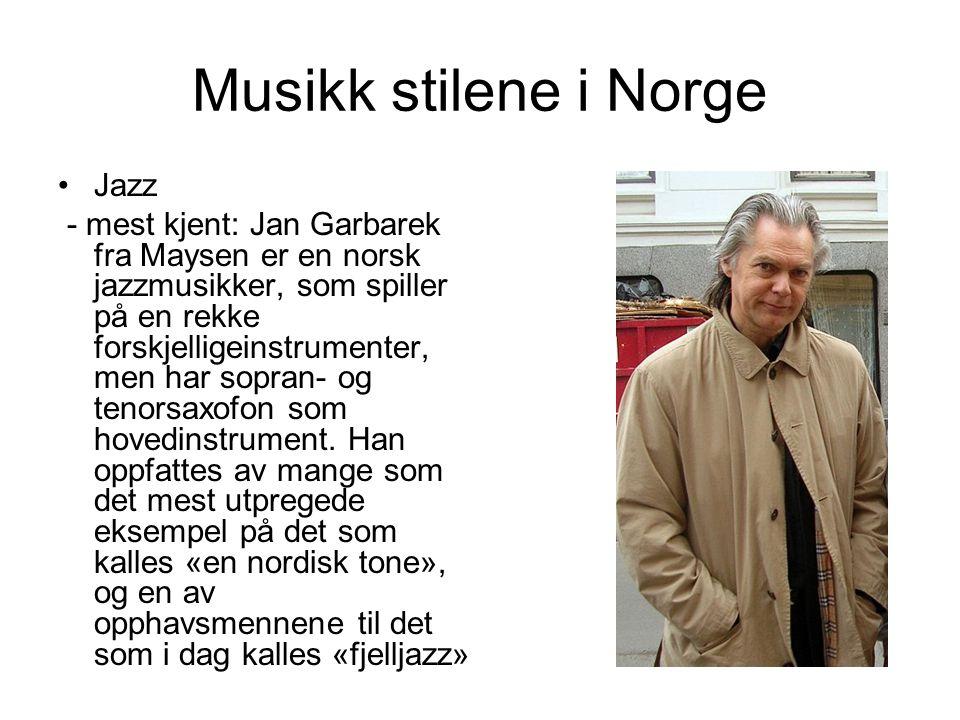 Musikk stilene i Norge Jazz