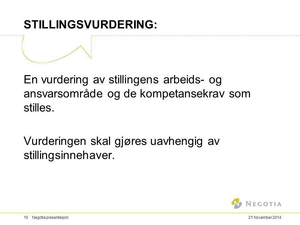 STILLINGSVURDERING: