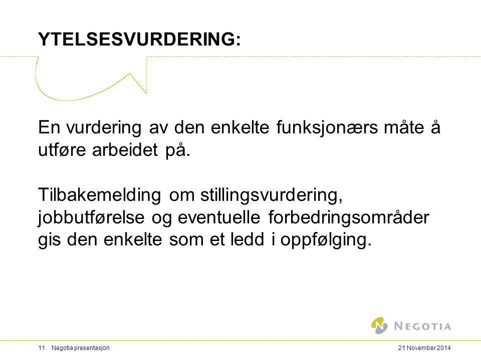 YTELSESVURDERING: