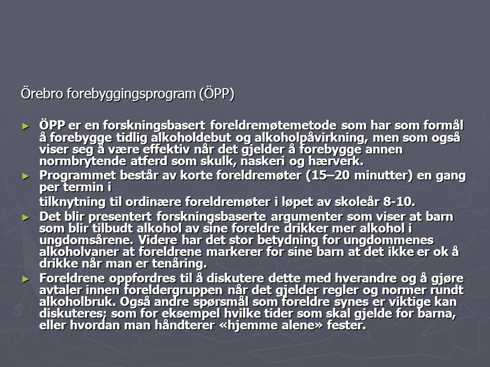 Örebro forebyggingsprogram (ÖPP)