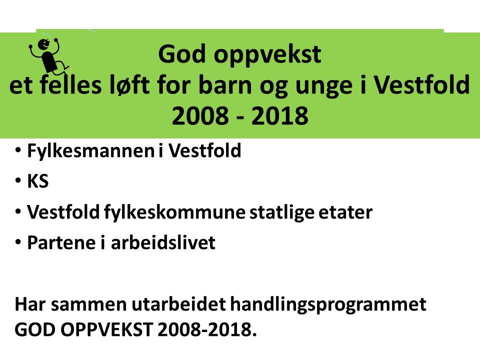 God oppvekst et felles løft for barn og unge i Vestfold 2008 - 2018