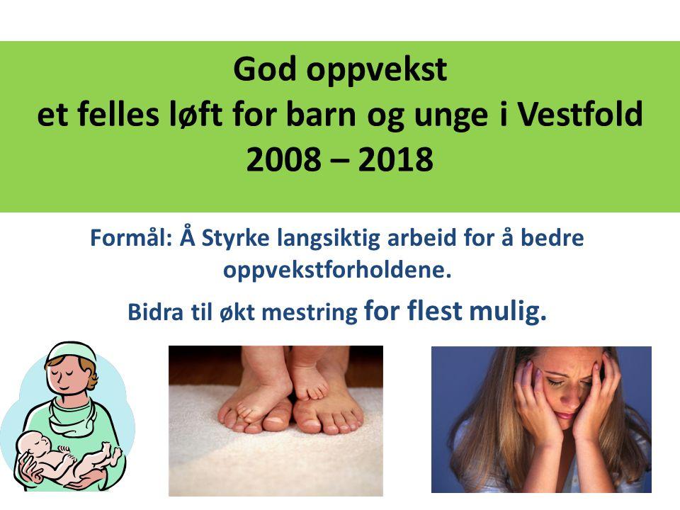 God oppvekst et felles løft for barn og unge i Vestfold 2008 – 2018
