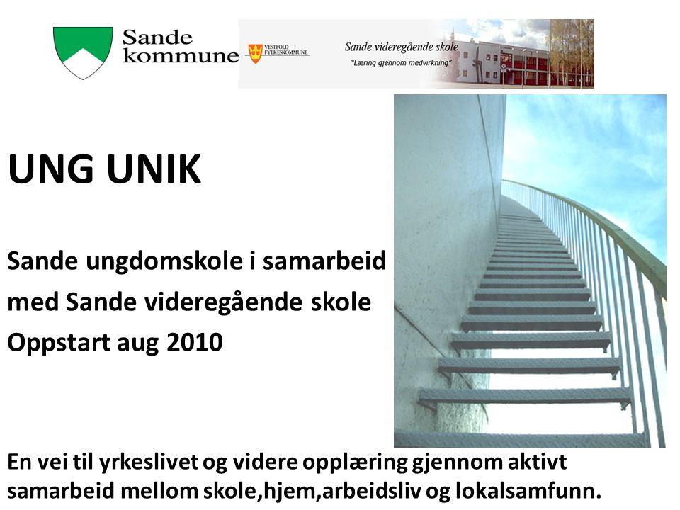 UNG UNIK Sande ungdomskole i samarbeid med Sande videregående skole