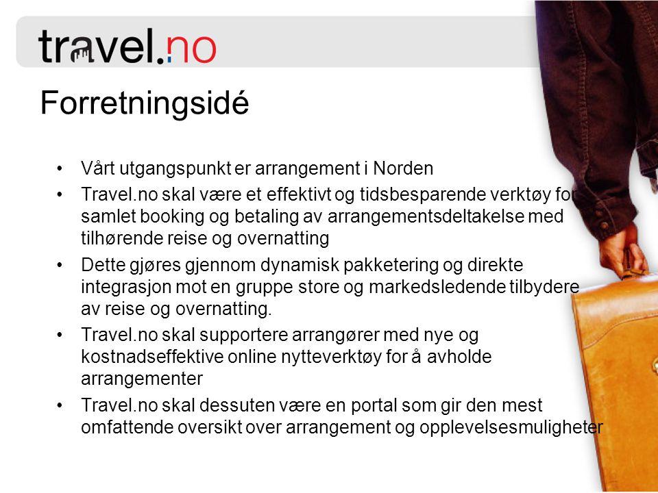 Forretningsidé Vårt utgangspunkt er arrangement i Norden