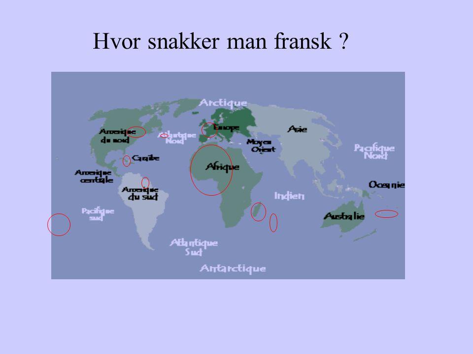 Hvor snakker man fransk