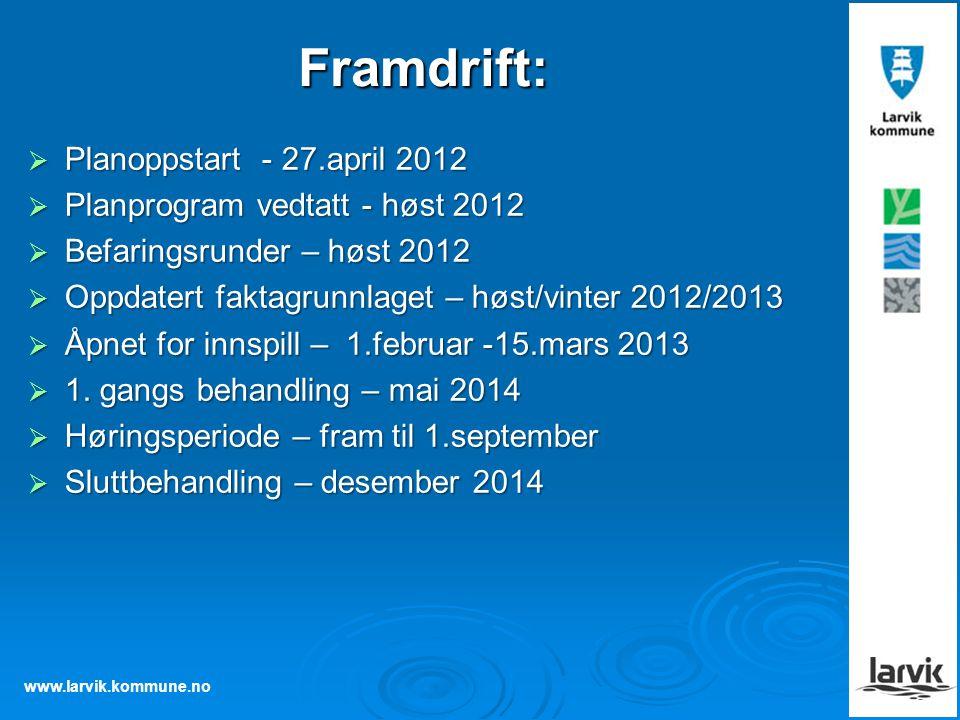 Framdrift: Planoppstart - 27.april 2012
