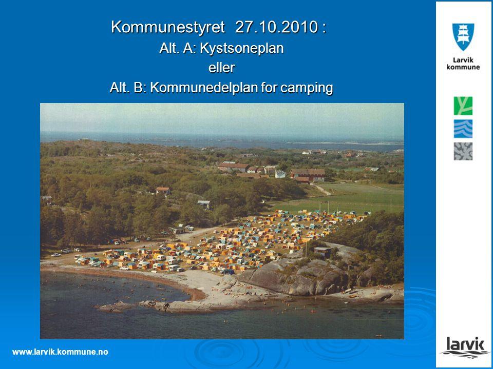 Alt. B: Kommunedelplan for camping