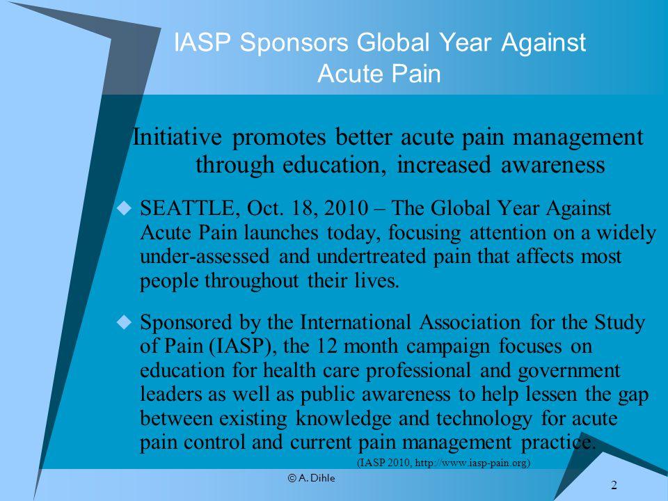 IASP Sponsors Global Year Against Acute Pain