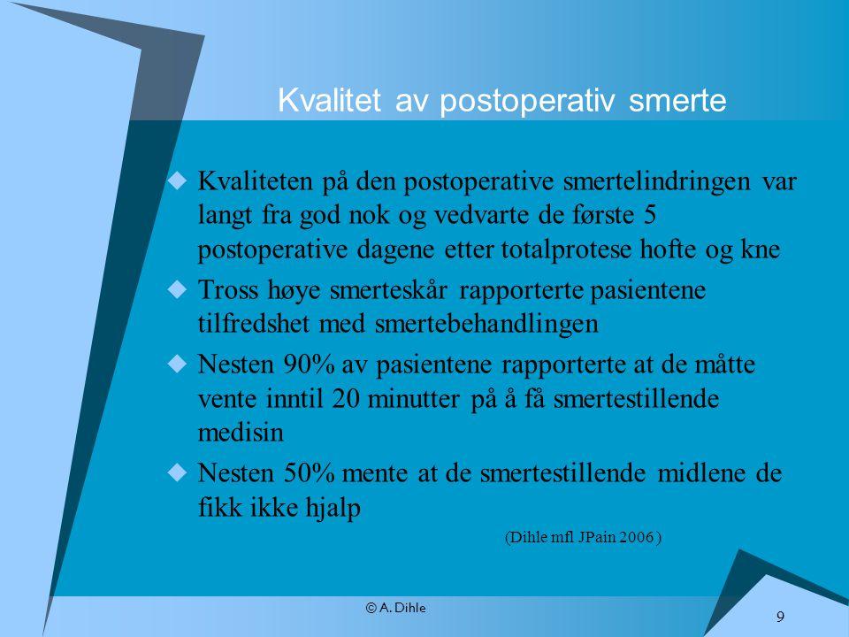Kvalitet av postoperativ smerte