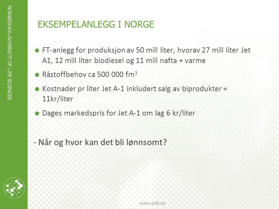 Eksempelanlegg i Norge