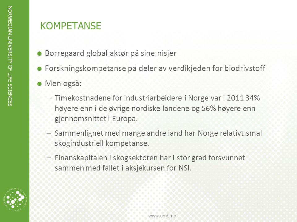 kompetanse Borregaard global aktør på sine nisjer