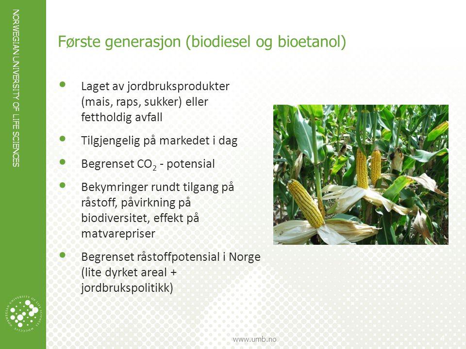 Første generasjon (biodiesel og bioetanol)