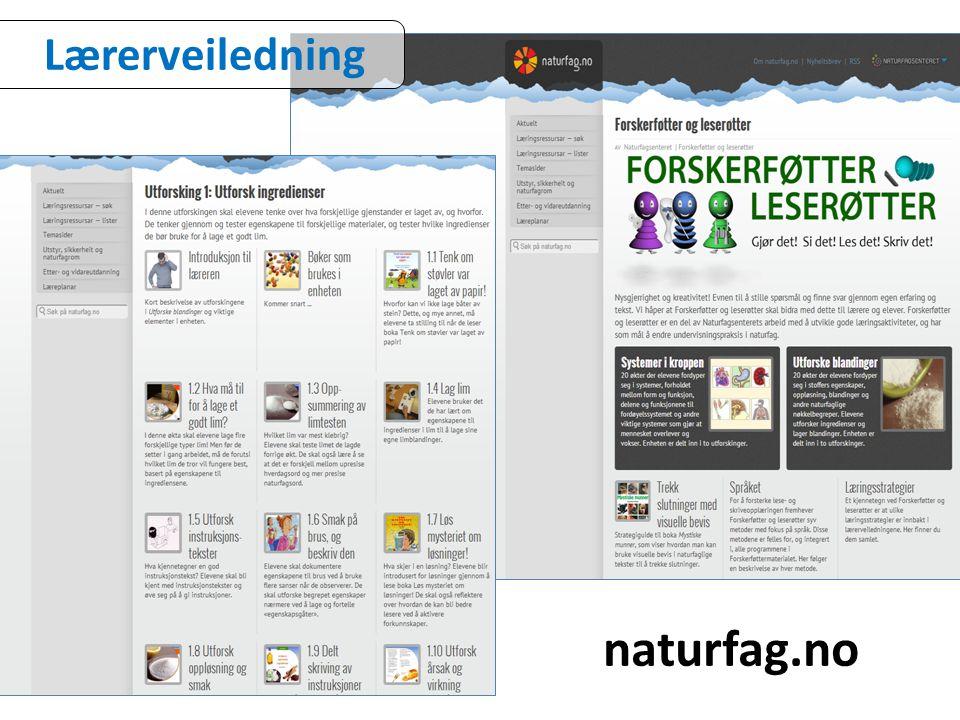 Lærerveiledning naturfag.no
