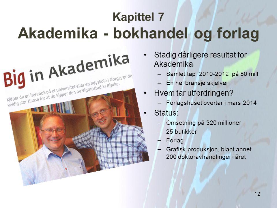 Kapittel 7 Akademika - bokhandel og forlag