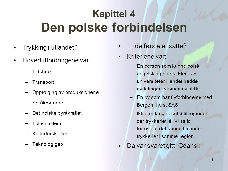 Kapittel 4 Den polske forbindelsen