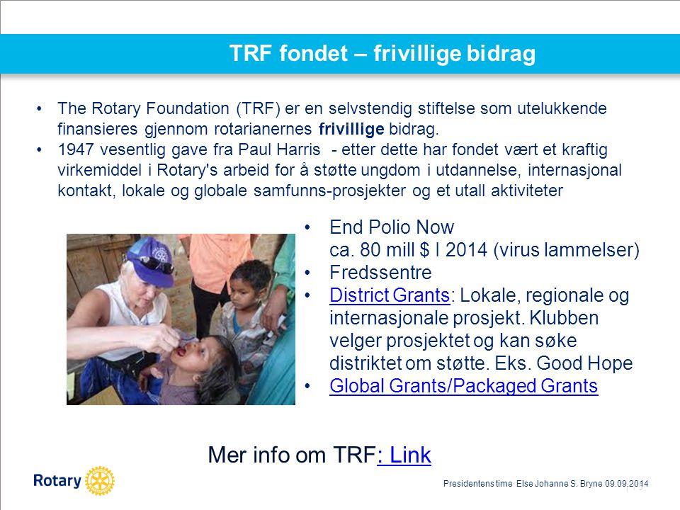 TRF fondet – frivillige bidrag