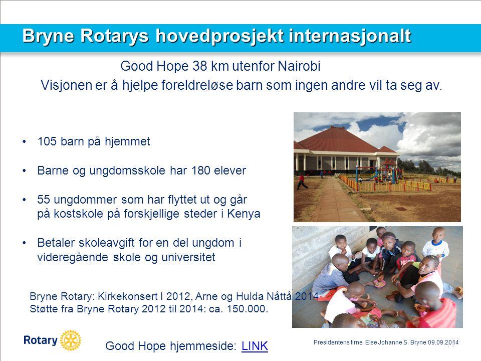 Bryne Rotarys hovedprosjekt internasjonalt