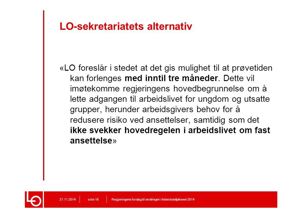 LO-sekretariatets alternativ