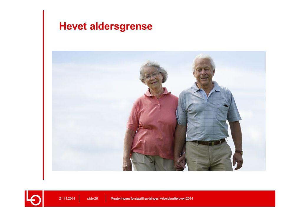 Hevet aldersgrense Foto: Trond Isaksen