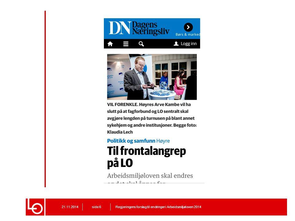 Dagens Næringsliv, 11. mai 2014