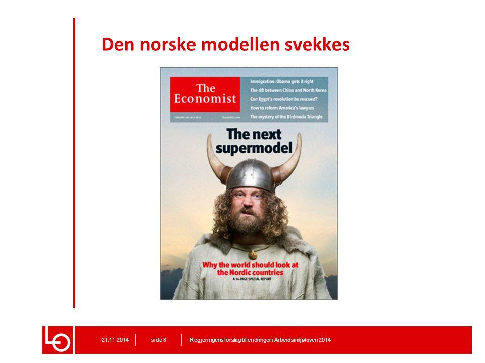 Den norske modellen svekkes