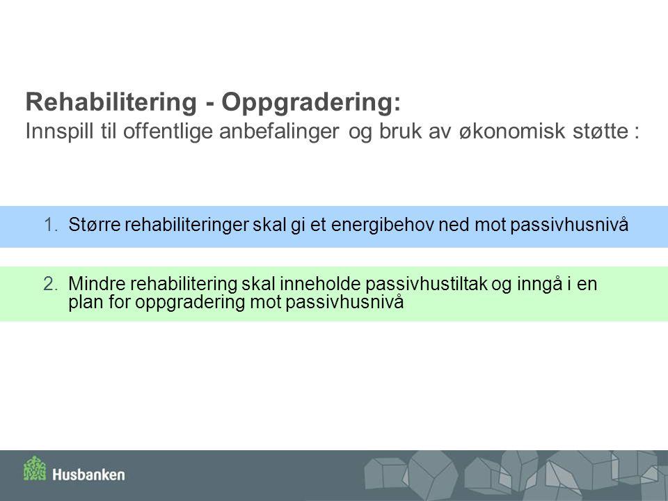 Rehabilitering - Oppgradering: Innspill til offentlige anbefalinger og bruk av økonomisk støtte :