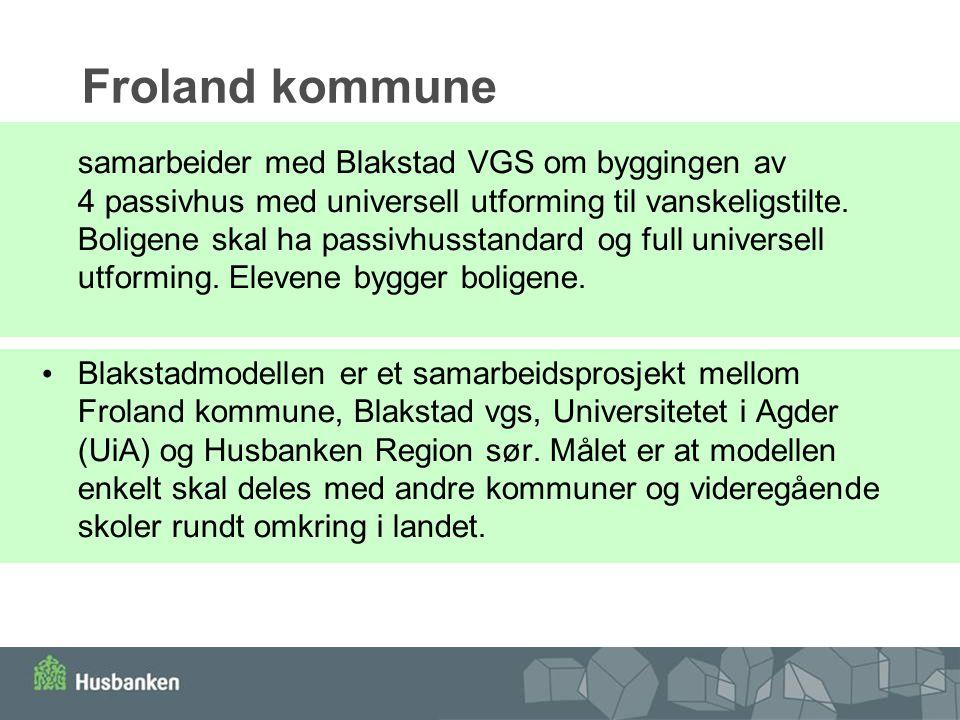 Froland kommune samarbeider med Blakstad VGS om byggingen av