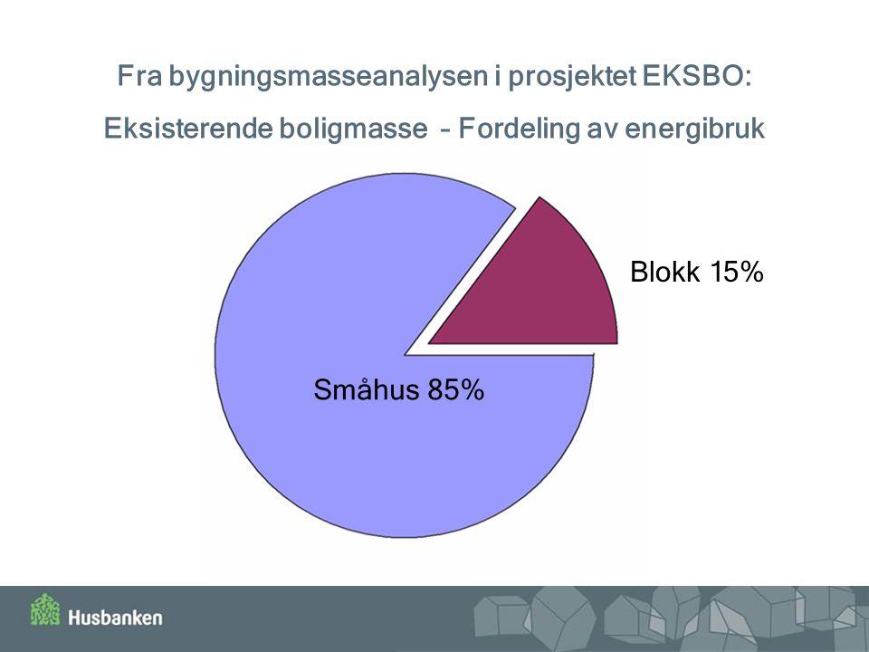 Fra bygningsmasseanalysen i prosjektet EKSBO: