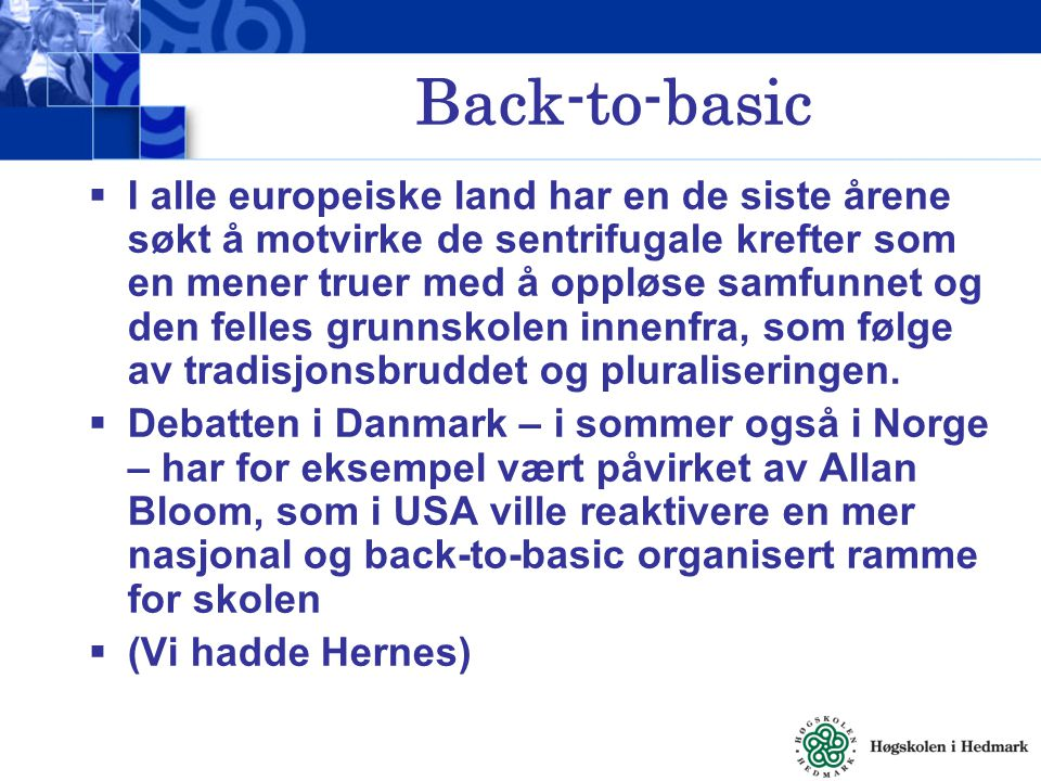 Back-to-basic