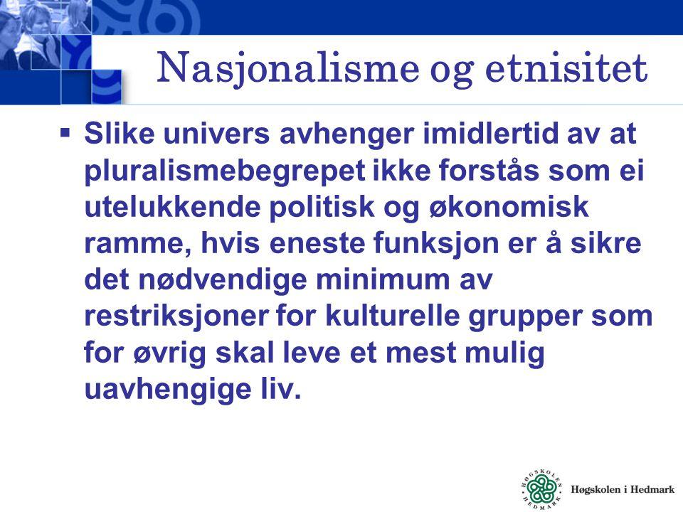 Nasjonalisme og etnisitet