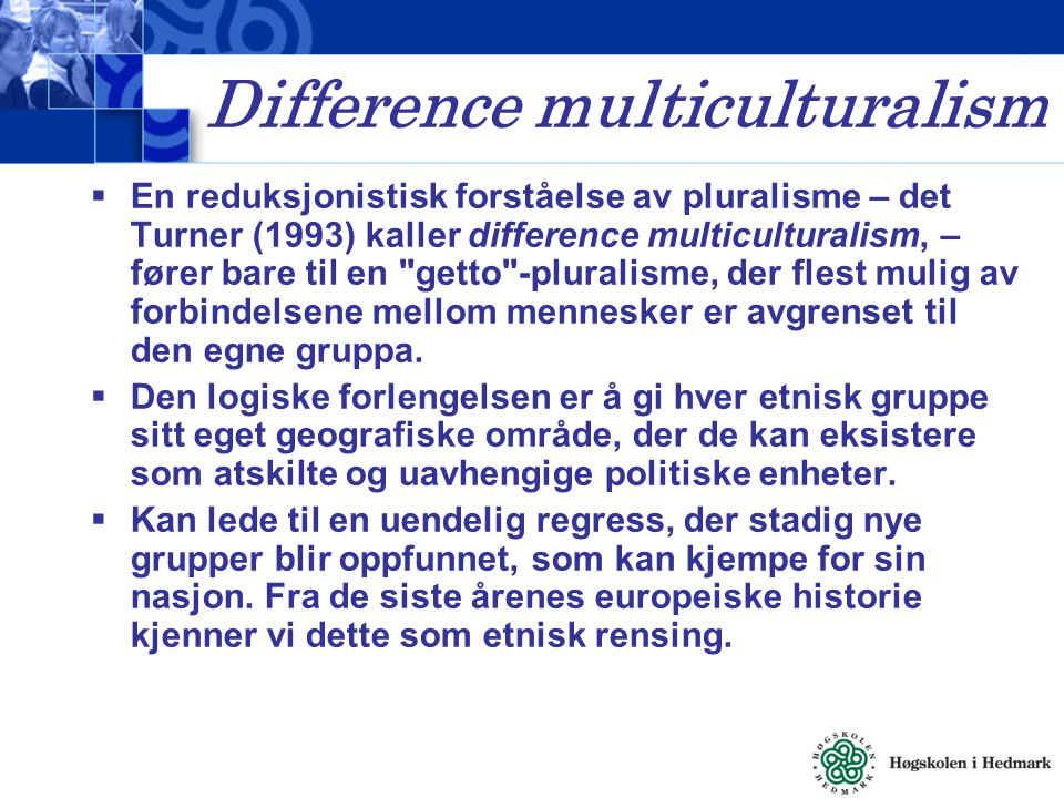 Difference multiculturalism
