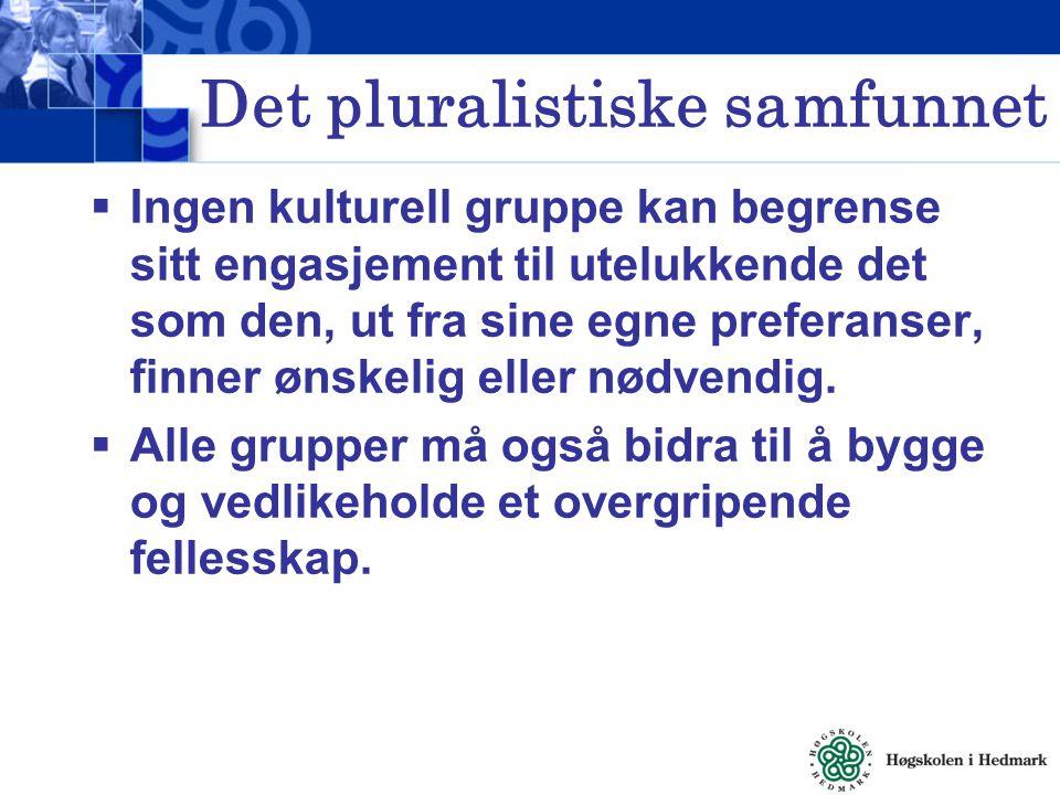 Det pluralistiske samfunnet