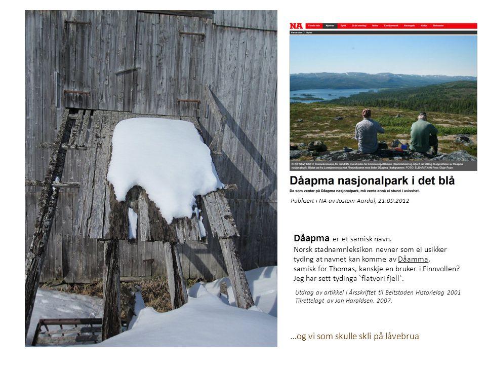 Dåapma er et samisk navn.