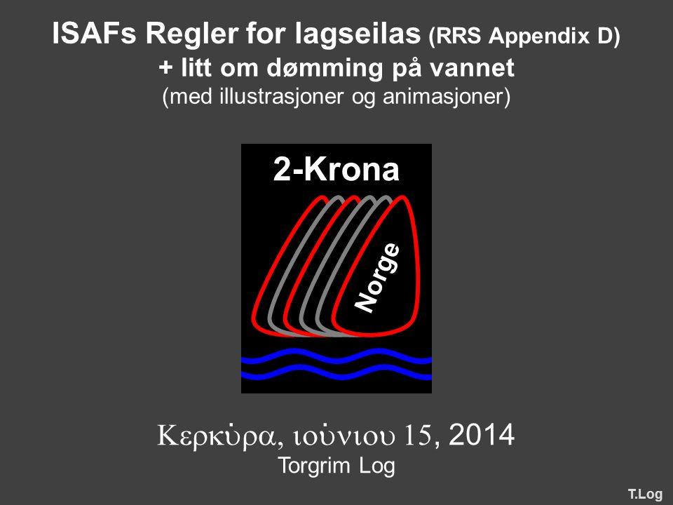 ISAFs Regler for lagseilas (RRS Appendix D)