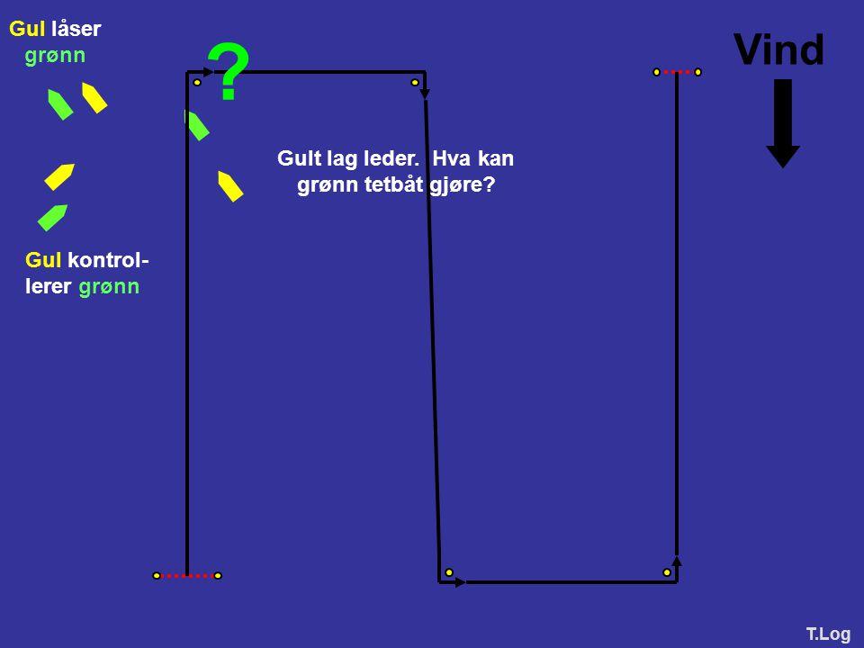 Vind Gul låser grønn Gult lag leder. Hva kan grønn tetbåt gjøre