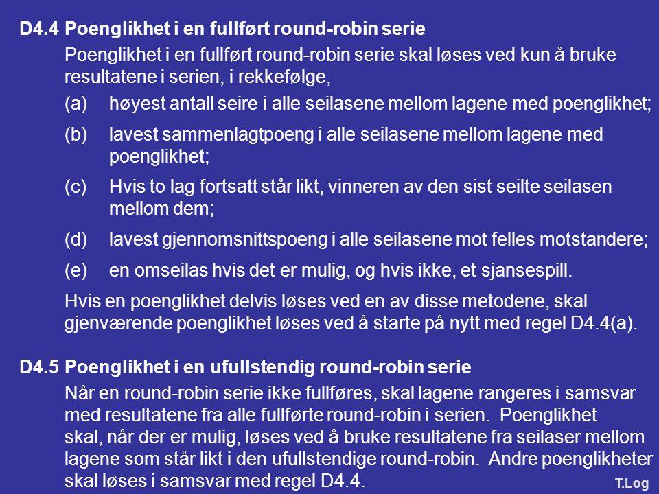 D4.4 Poenglikhet i en fullført round-robin serie