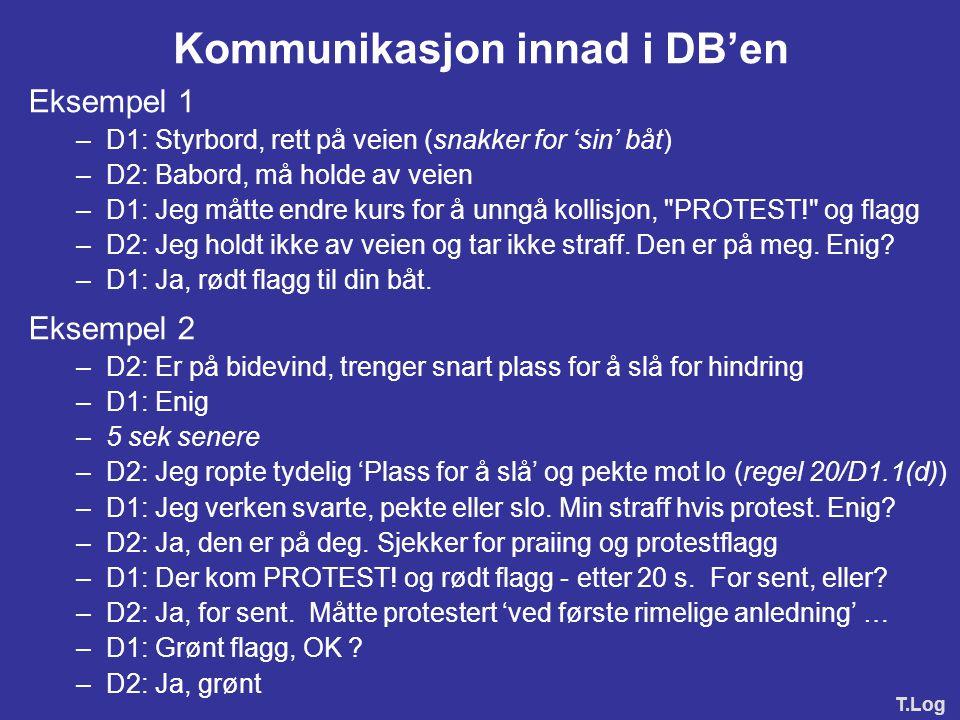 Kommunikasjon innad i DB'en