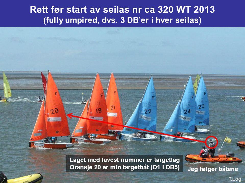 Rett før start av seilas nr ca 320 WT 2013