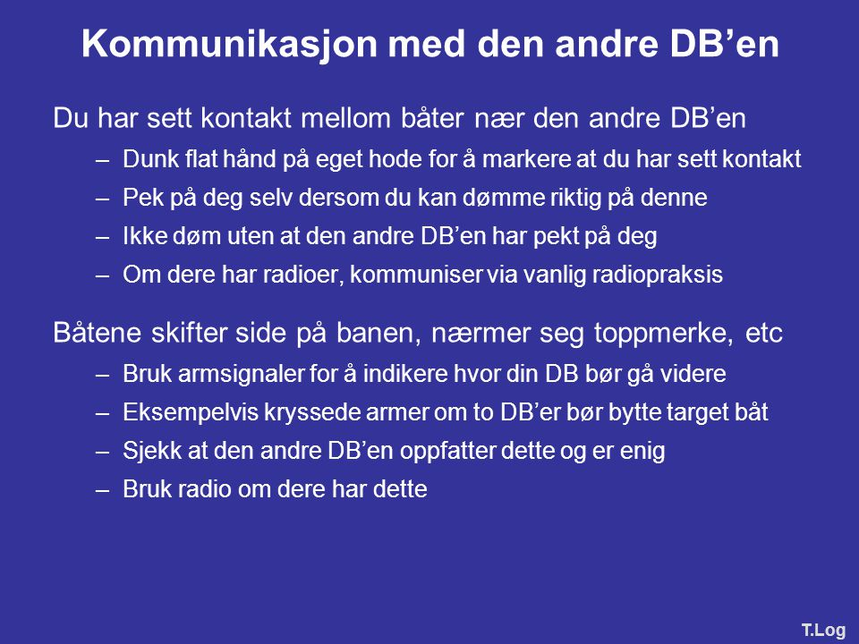 Kommunikasjon med den andre DB'en