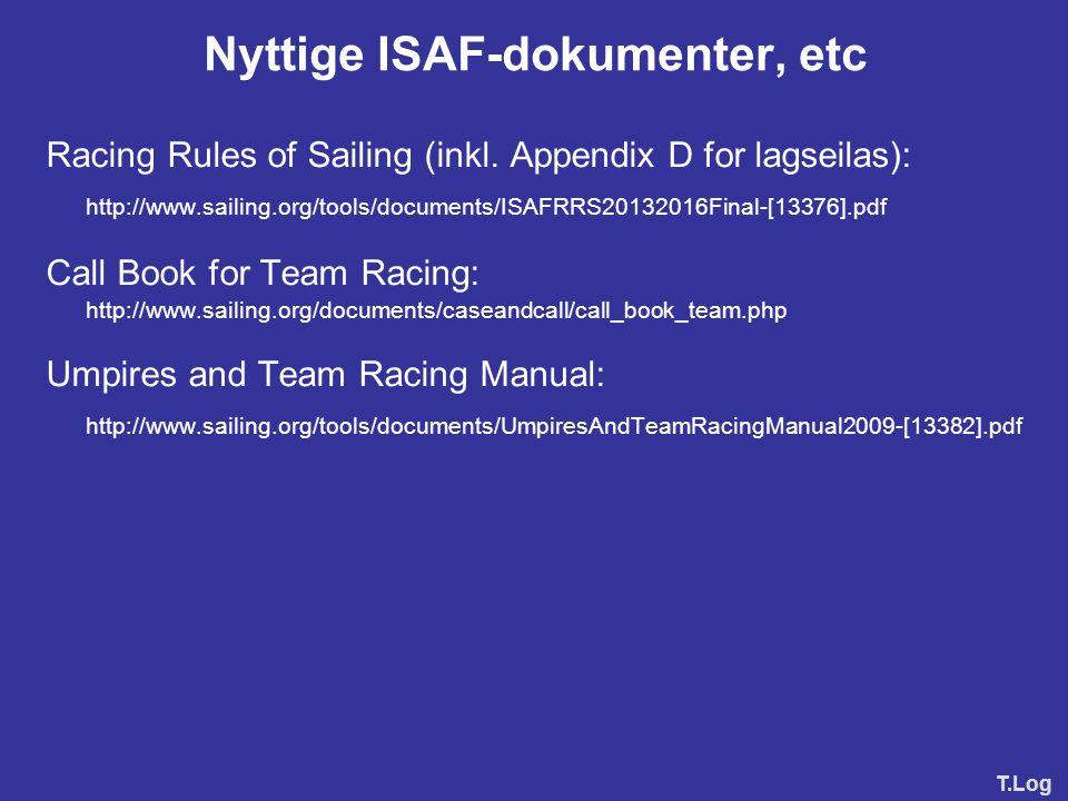 Nyttige ISAF-dokumenter, etc