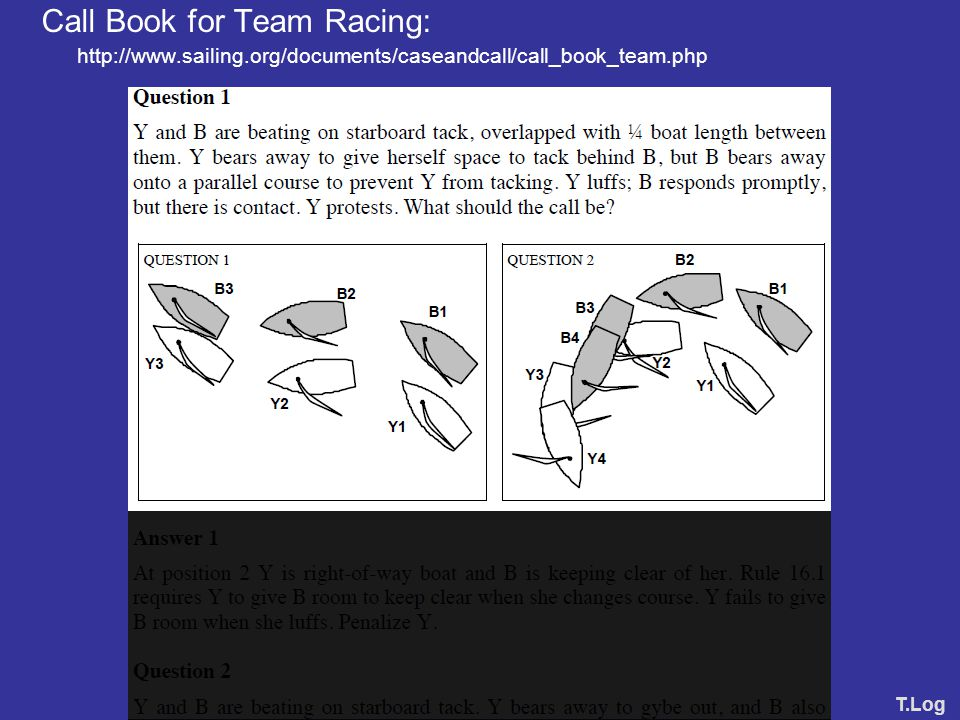 Call Book for Team Racing: