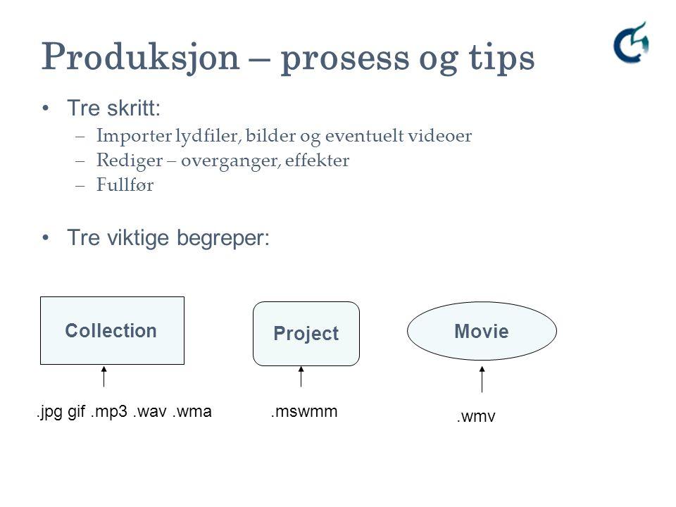 Produksjon – prosess og tips