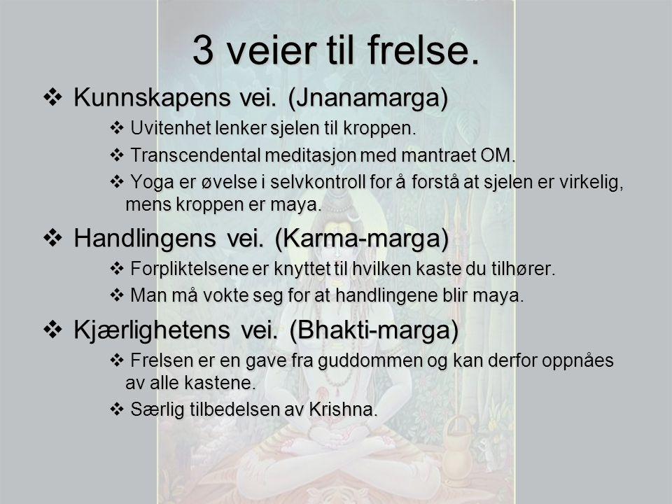 3 veier til frelse. Kunnskapens vei. (Jnanamarga)