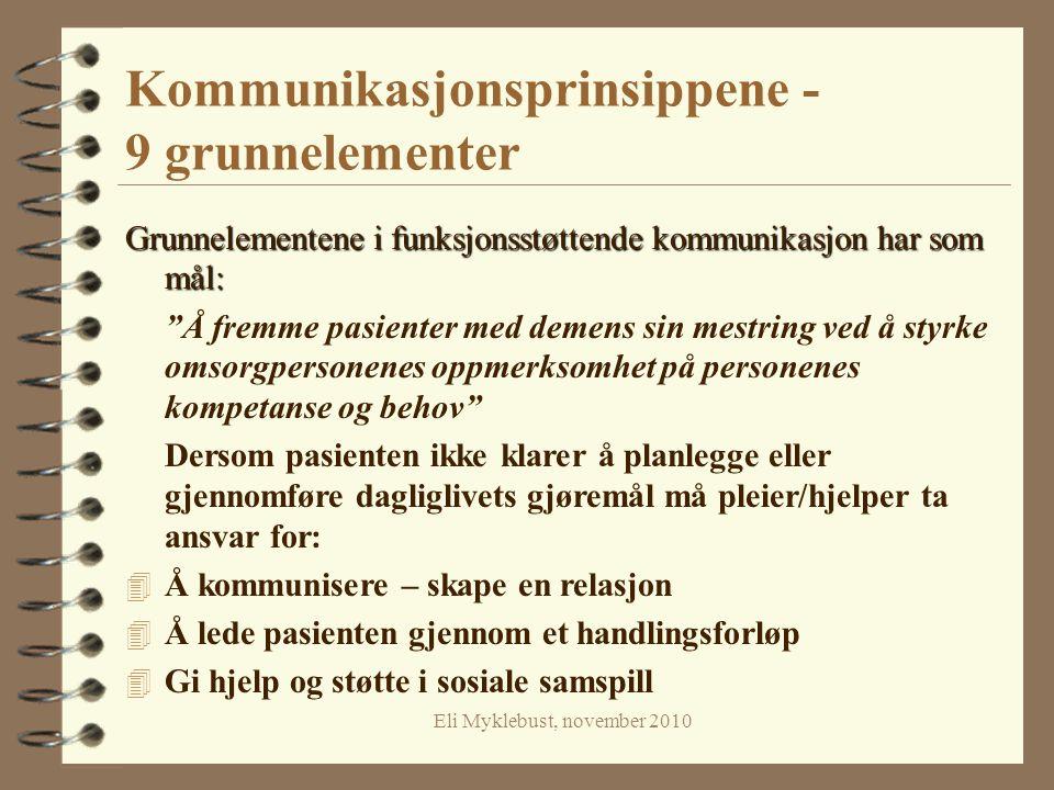 Kommunikasjonsprinsippene - 9 grunnelementer