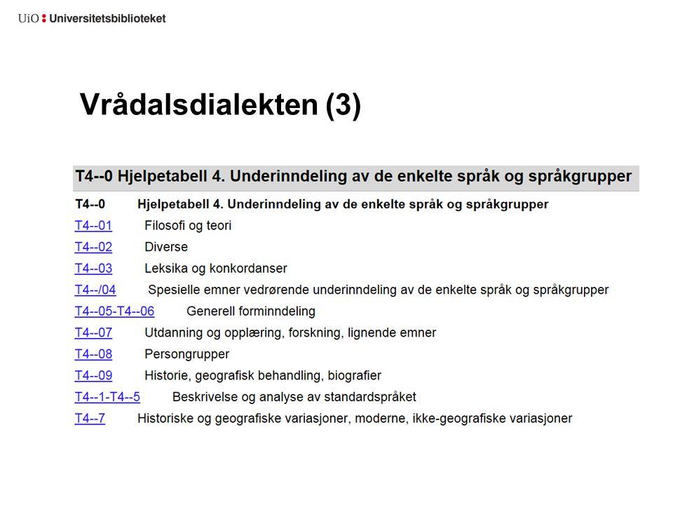 Vrådalsdialekten (3)