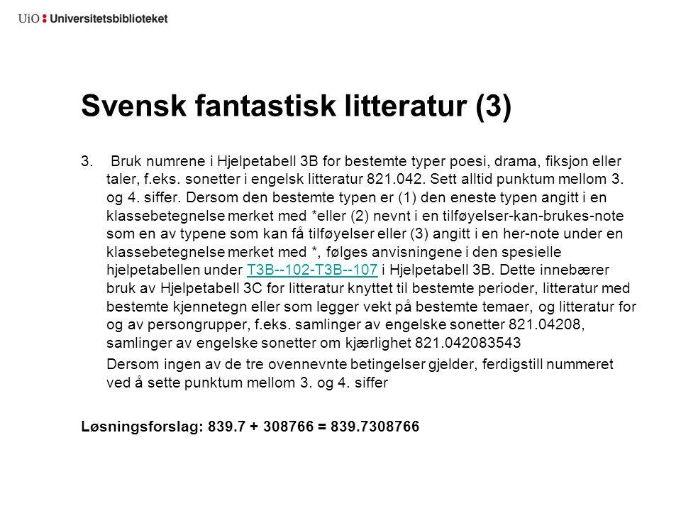 Svensk fantastisk litteratur (3)