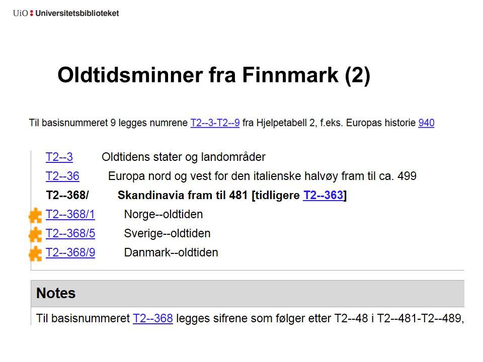 Oldtidsminner fra Finnmark (2)