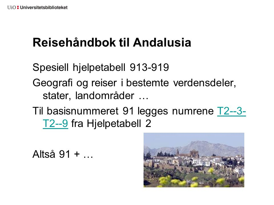Reisehåndbok til Andalusia