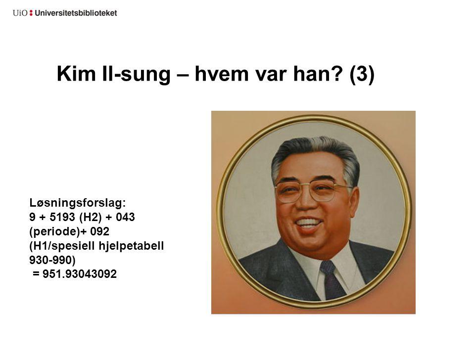 Kim Il-sung – hvem var han (3)