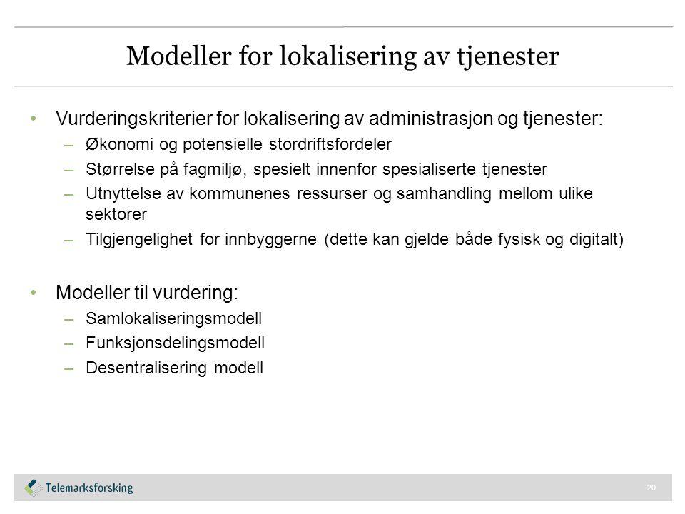 Modeller for lokalisering av tjenester